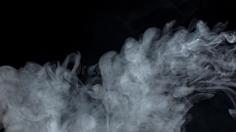 Nuvens de fumo fotografia de stock royalty free