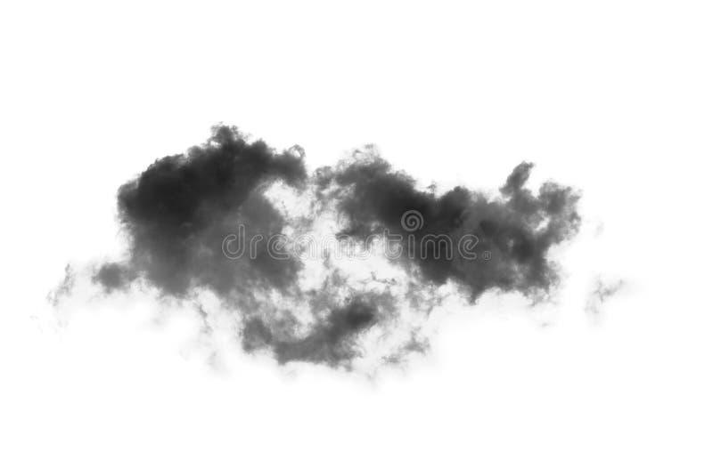 Nuvens de fumo pretas sobre o fundo branco imagem de stock royalty free