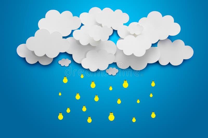 Nuvens de papel ilustração royalty free