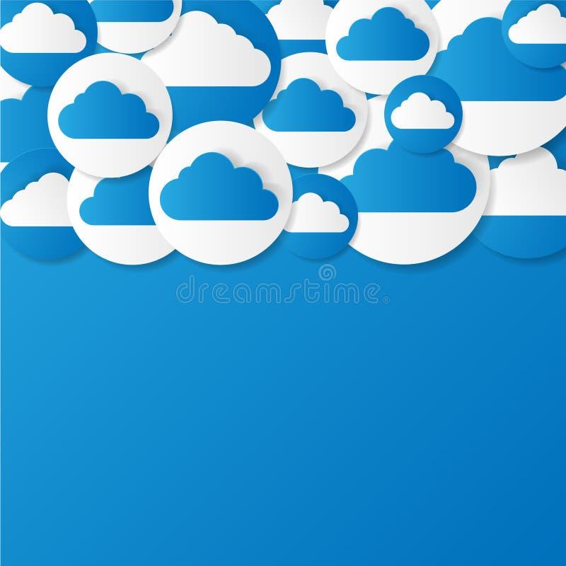 Nuvens de papel. Ilustração do vetor. ilustração stock