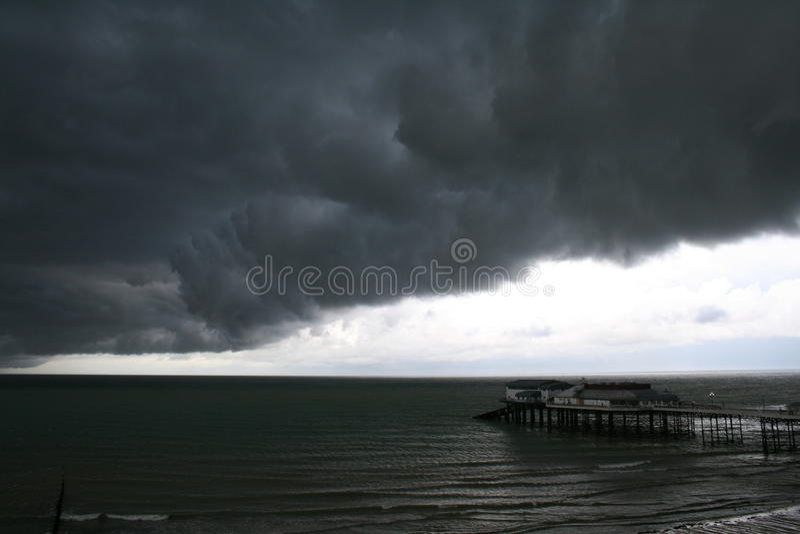 Nuvens de tempestade em Norfolk imagem de stock royalty free