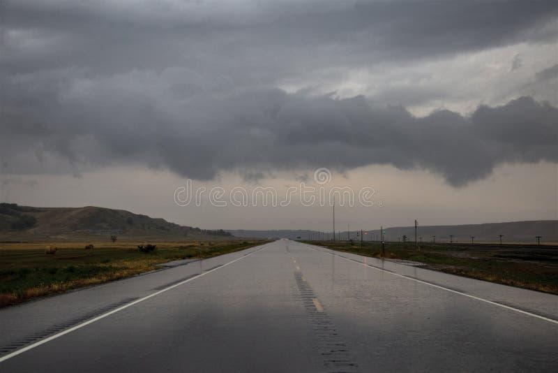 Nuvens de tempestade North Dakota fotografia de stock