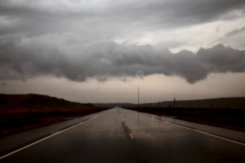 Nuvens de tempestade North Dakota fotos de stock