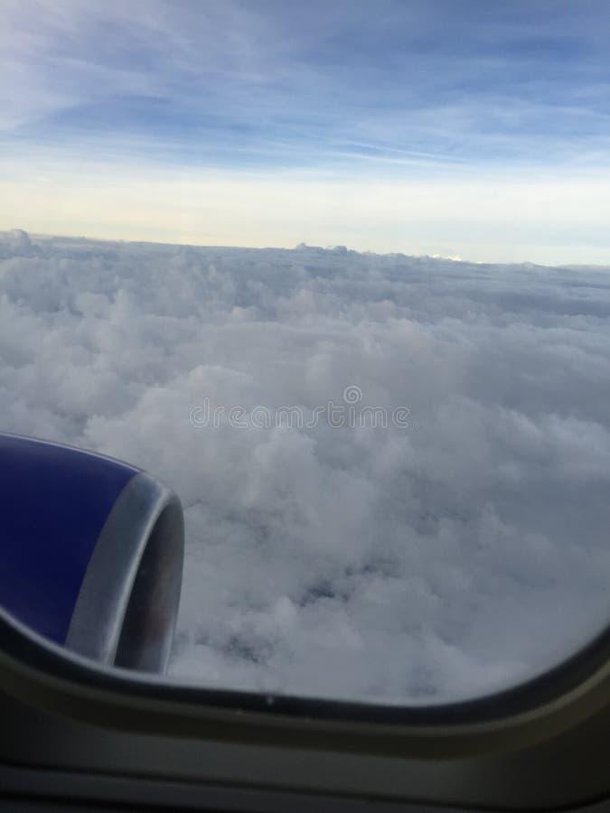 Nuvens de um plano imagem de stock