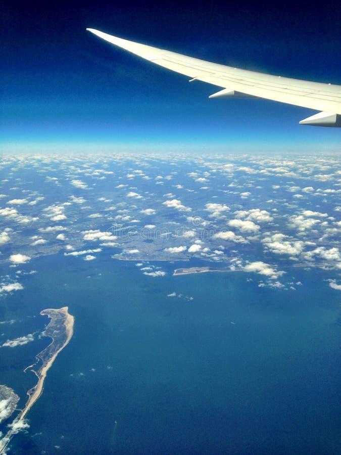 Nuvens do avião fotos de stock royalty free