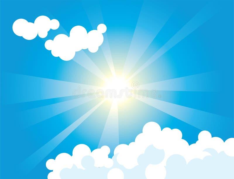 Nuvens do céu ilustração do vetor