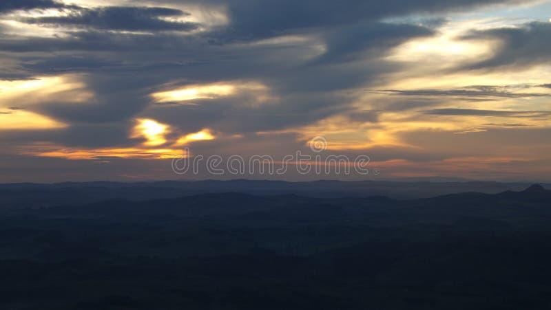 Nuvens do crepúsculo foto de stock royalty free