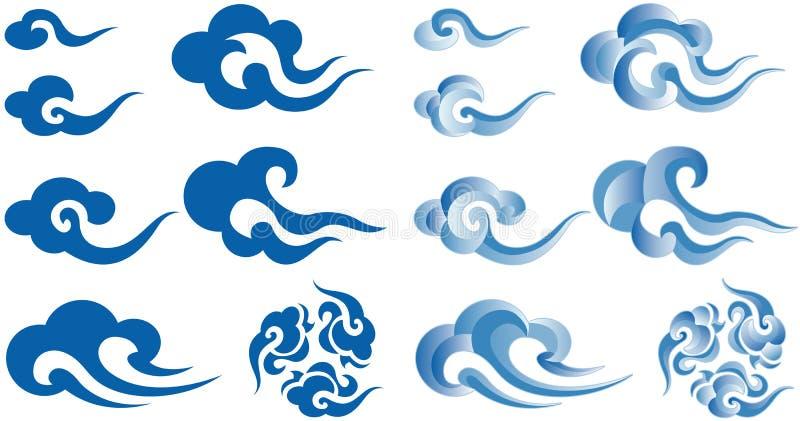 Nuvens do estilo chinês ilustração stock