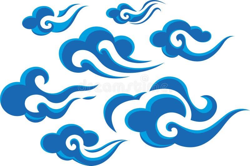 Nuvens do estilo chinês ilustração royalty free