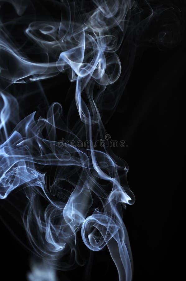 Nuvens do fumo branco fotografia de stock