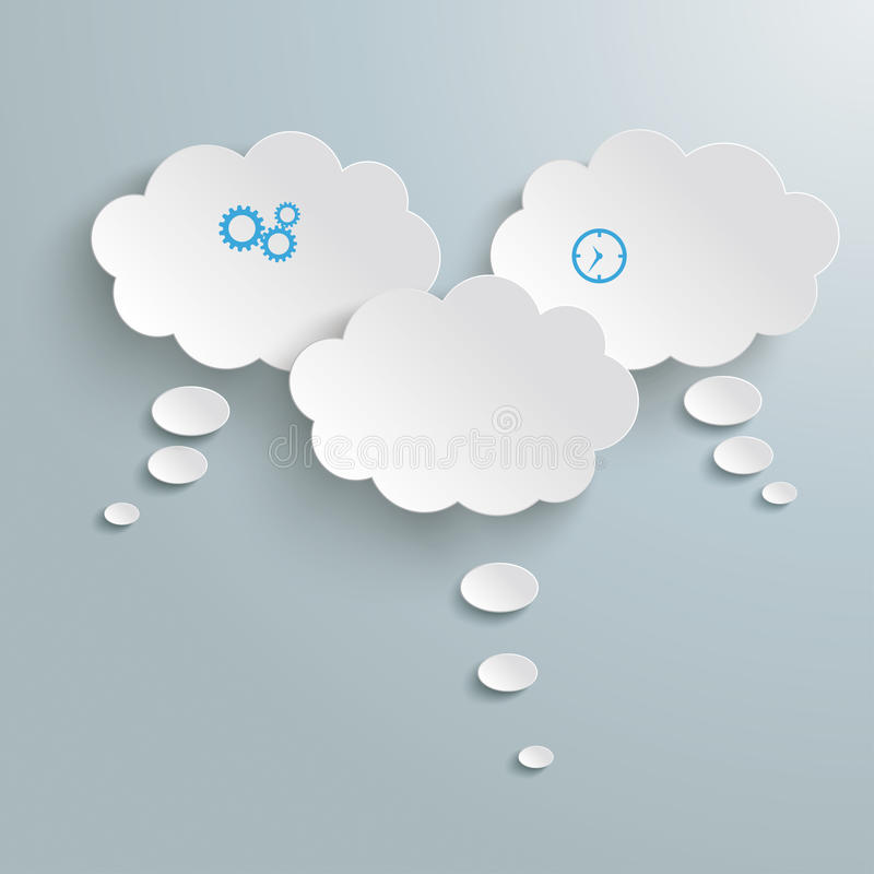3 nuvens do Livro Branco ilustração do vetor