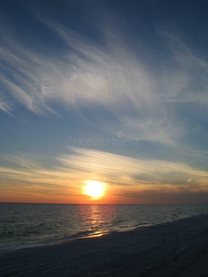 Nuvens do por do sol fotografia de stock
