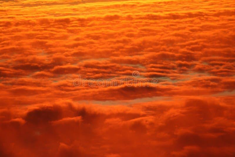 Nuvens do por do sol imagem de stock