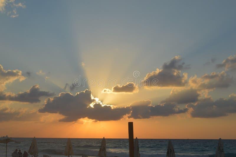 Nuvens do por do sol foto de stock royalty free
