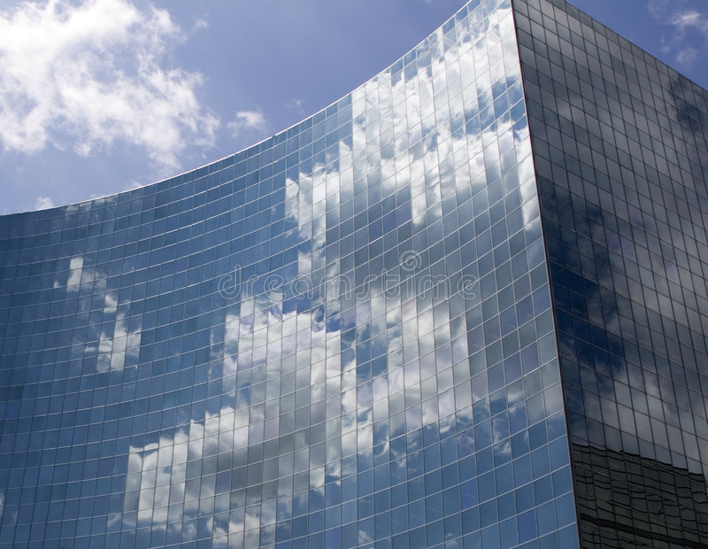 Nuvens do trabalho imagem de stock
