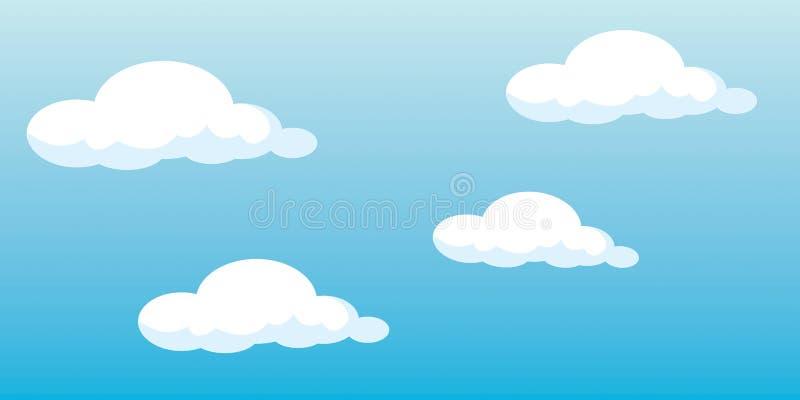 Nuvens do vetor ilustração royalty free