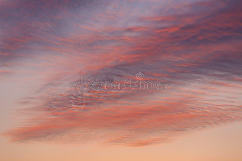 nuvens durante o por do sol em Checo Repulic fotografia de stock