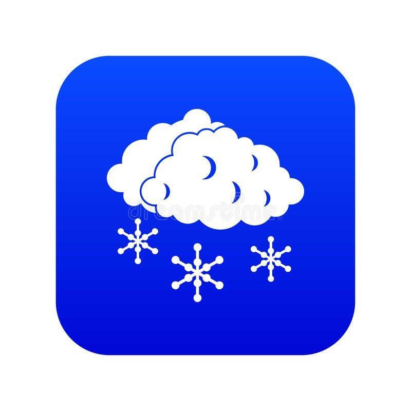 Nuvens e azul digital do ícone da neve ilustração royalty free