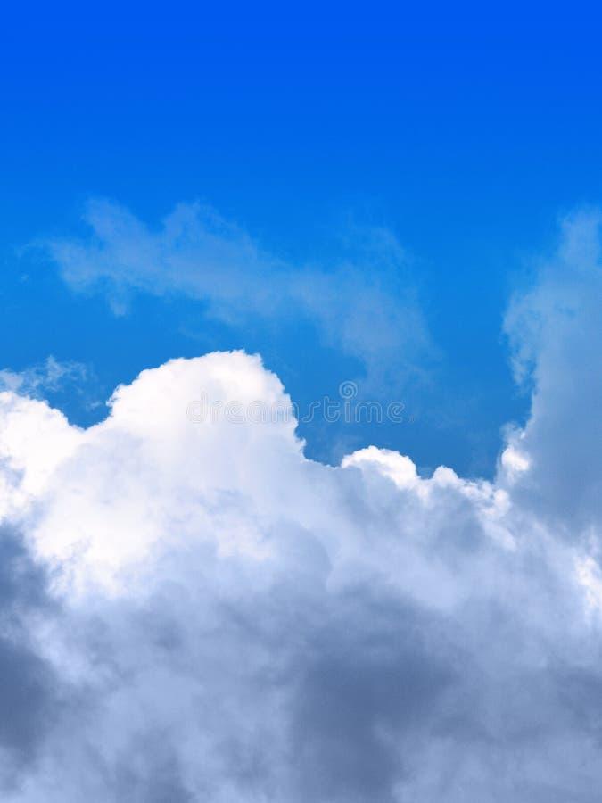 Nuvens e céu foto de stock