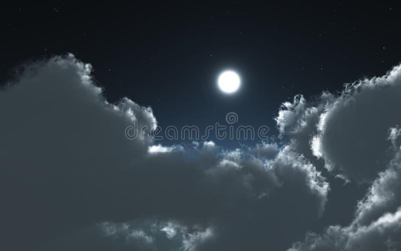 Nuvens e lua na noite imagens de stock royalty free