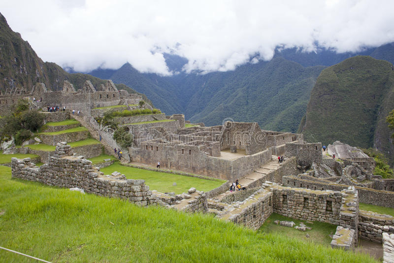 Nuvens em Machu Picchu foto de stock