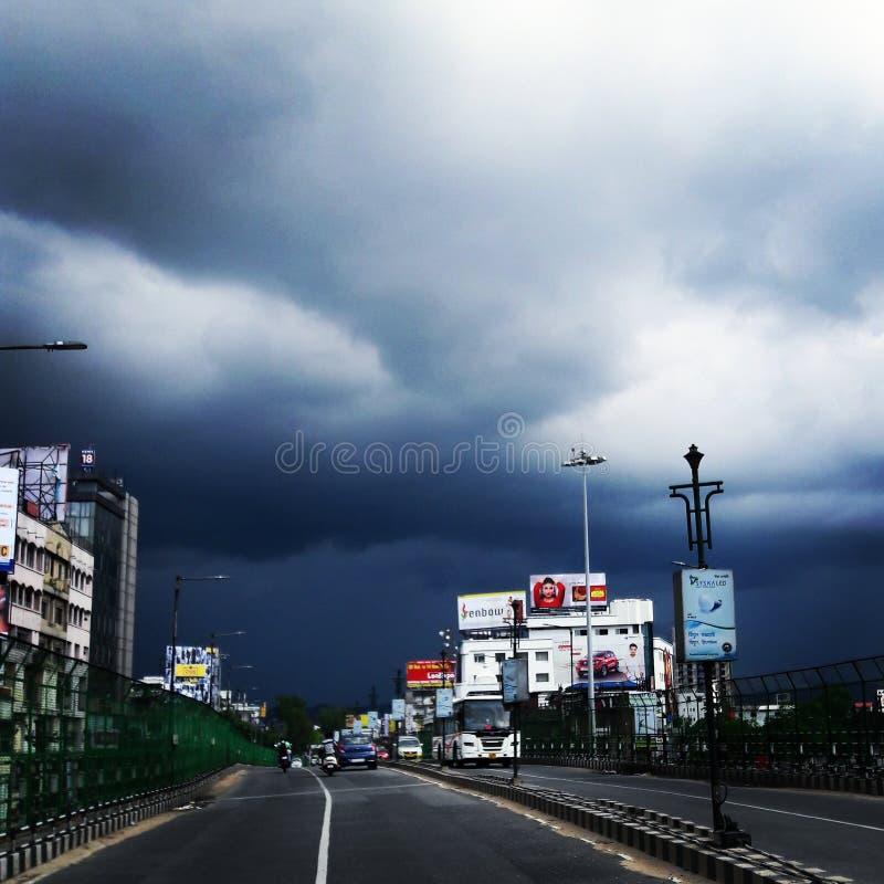 Nuvens escuras imagem de stock royalty free