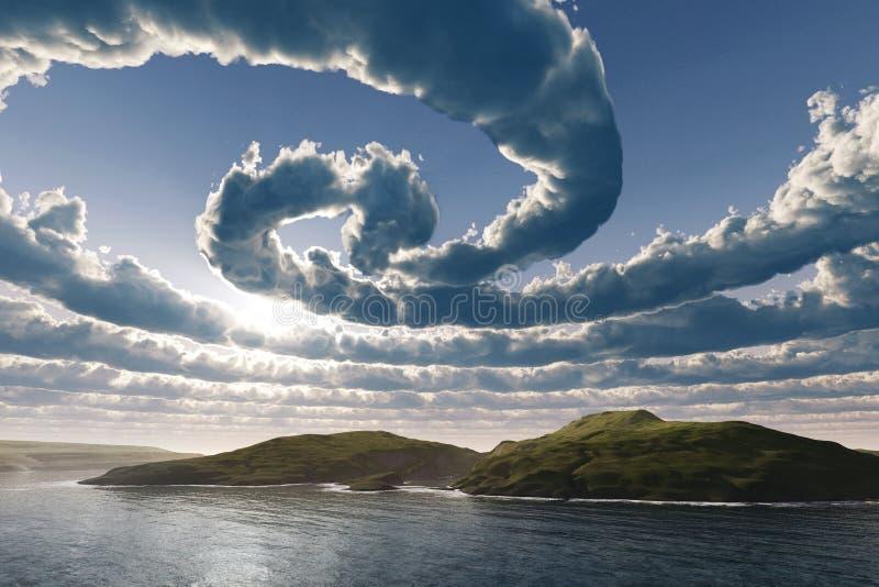 Nuvens espirais ilustração royalty free