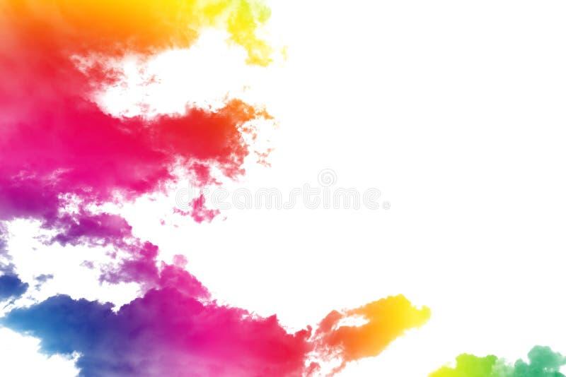 Nuvens fantásticas da cor fotografia de stock royalty free