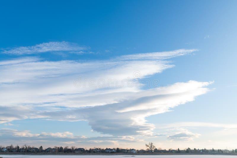 Nuvens impressionantes em Colorado imagem de stock royalty free