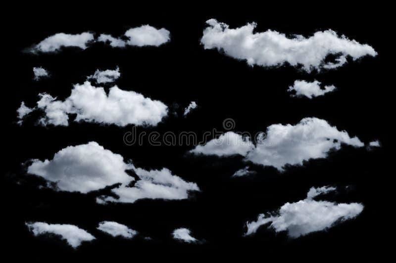 Nuvens isoladas foto de stock
