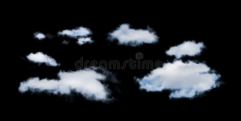 Nuvens isoladas branco. imagens de stock royalty free