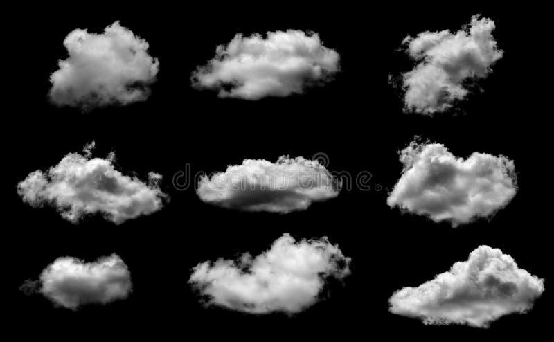 Nuvens macias brancas no fundo do céu azul imagens de stock royalty free