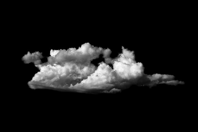 Nuvens macias brancas no fundo preto do céu imagens de stock royalty free