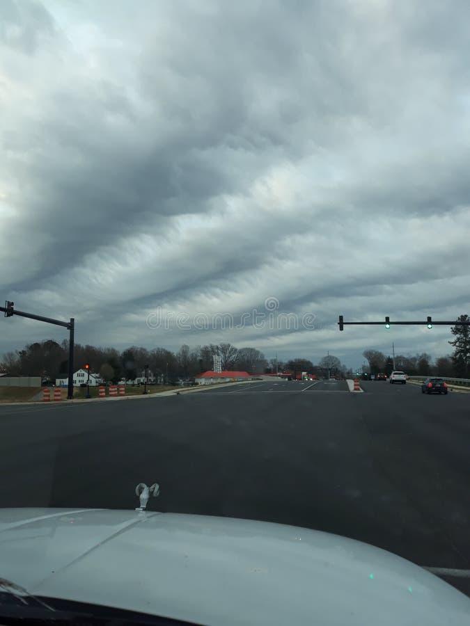 Nuvens não naturais loucas fotografia de stock