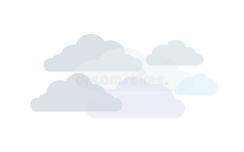 Nuvens nas máscaras do cinza ilustração stock
