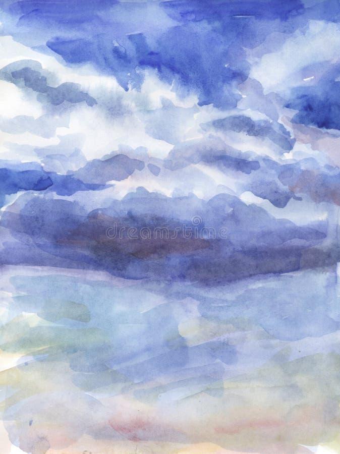 Nuvens no céu. ilustração stock