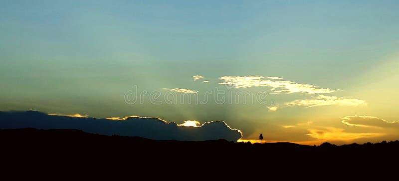 Nuvens no pôr do sol fotografia de stock royalty free