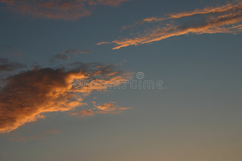 Nuvens no por do sol imagem de stock royalty free