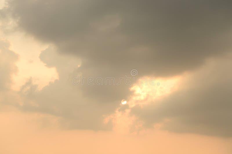 Nuvens no por do sol imagens de stock royalty free