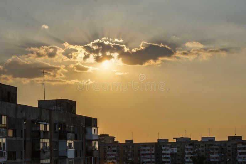 Nuvens no por do sol imagem de stock