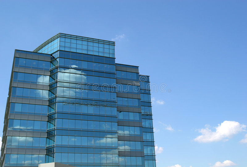 Nuvens no vidro azul fotos de stock royalty free