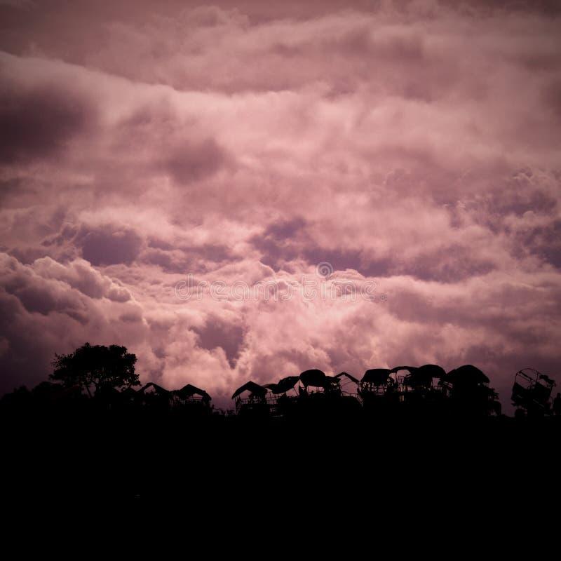 Nuvens poderosas foto de stock