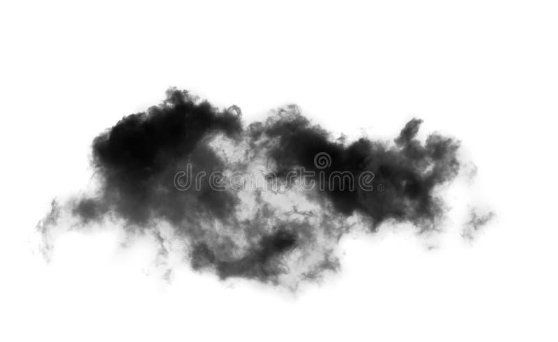 Nuvens pretas sobre o fundo branco fotos de stock