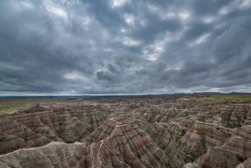 Nuvens sinistras no parque nacional do ermo imagens de stock