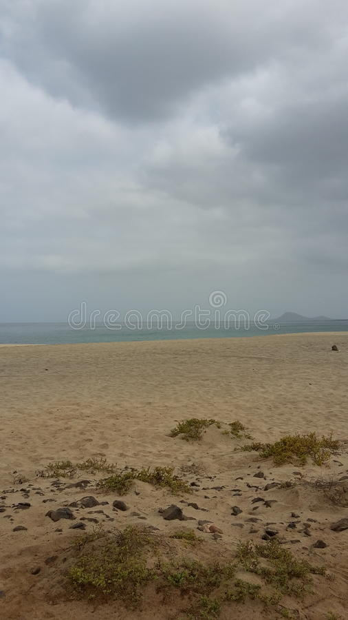 Nuvens sobre Cabo Verde foto de stock