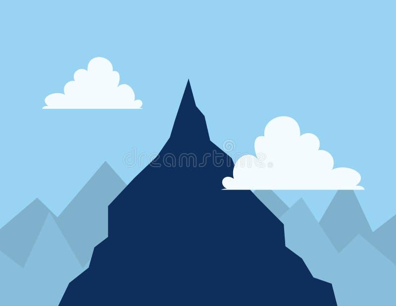 Nuvens superiores da montanha ilustração royalty free