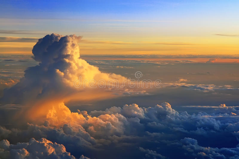 Nuvens Surpreendentes. Fotografia de Stock Royalty Free