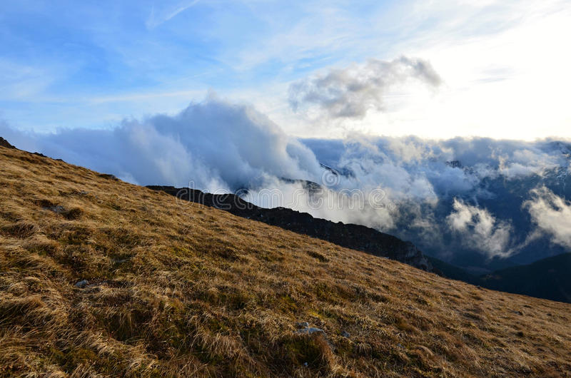 Nuvens Tatras ocidental imagens de stock royalty free