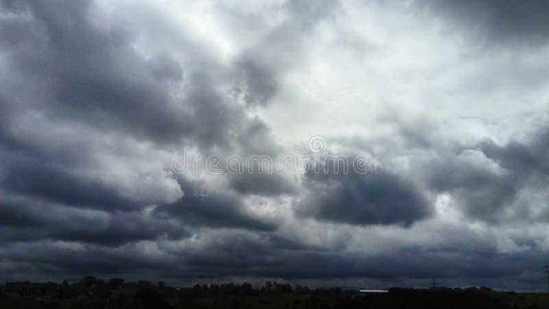 Nuvens, Wolken, Himmel, céu fotografia de stock