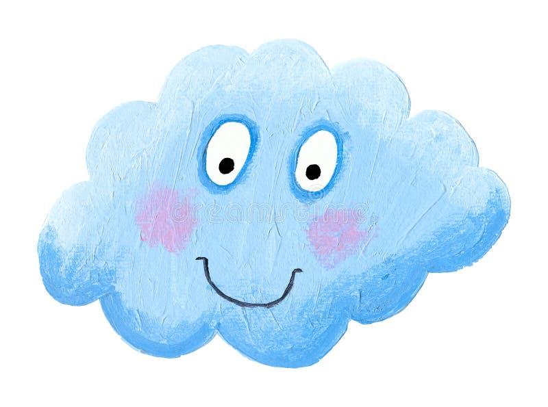 Nuvola blu felice illustrazione vettoriale